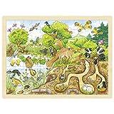 Goki 57582 - Einlegepuzzle - Erlebnis Natur
