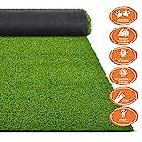 Premium Kunstrasen | Rasenteppich | Rollrasen | Kunststoffrasen | Garten-Rasen | Rasen für Balkon, Terrasse & Garten | viele Modelle | verschiedene Größen & Stärken (Terraza (Höhe: 18mm), 100x100 cm)