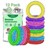 Entligent Mückenschutz Armband [12 Stück], Mückenarmband 100% Natürlich, DEET-Frei, Insektenschutz Armbänder für Kinder, Erwachsene, Outdoor und Indoor