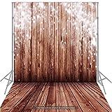 Andoer 1,5 * 2 m Hintergrund Fotografie Hintergrund klassische Mode Holz Holzboden Fotohintergrund für Studio-Profi-Fotografie, Baby, Neugeborene, Kinder, Tiere, Objekte Fotografie Video Studio