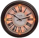 Gardman LED-Uhr'Bank Station', dunkel braun, 36x7x36 cm, 17216