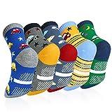 VBIGER 5 Paar Kinder Socken Jungen Antirutschsocken Baumwolle Wärme Kindersocken für Kleinkind Jungen & Mädchen