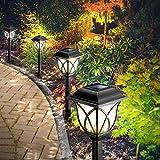 Solarleuchten Garten, 6 Stück LED Warmweiß Solar Gartenleuchte für Außen mit IP44 Wasserdicht, Görvitor Solar Wegeleuchte Dekorative Licht Solarlampen für Außen Garten Landschaft Rasen Gehweg