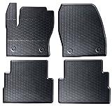 AME - Auto-Gummimatten in schwarz und Wabendesign, Geruch-vermindert und passgenau mit verbauten Befestigungen 870/4C