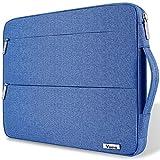 Voova Laptop Tasche 15.6 Zoll 15 Zoll mit Griff,wasserdichte Laptoptasche 15.6 Zoll Hülle Sleeve für MacBook Pro 15.4/Surface 15/Dell XPS 15/Chromebook mit 2 Taschen,Notebook Laptophülle Case-Blau