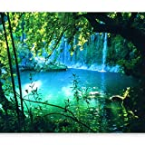 murando Fototapete selbstklebend Natur 343x256 cm Tapete Wandtapete Klebefolie Dekorfolie Tapetenfolie Wand Dekoration Wandaufkleber Wohnzimmer Landschaft Wasserfall c-B-0132-a-a