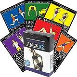Stack 52 Widerstand-Band-Übungs-Karten Übungs-Band-Workout-Spielkarten-Spiel. Video-Anweisungen enthalten. Home Fitness Trainingsprogramm für elastische Gummi Tubes und Stretchband Sets.