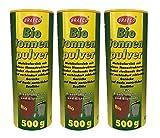 Preisjubel 12 x 500g Biotonnenpulver Mülleimer-Pulver, Vorbeugen gegen Maden Abfalltonne
