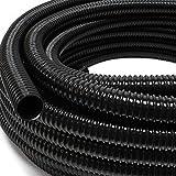 Wiltec 5m Teichschlauch 25mm (1') - sehr flexibel schwarz UV-Beständig