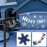 Haushalt Int. LED Licht Projektor Strahler weihnachtliches Motiv Projektion Außenbeleuchtung, schwarz