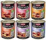 Animonda Gran Carno Hundefutter Adult Sensitiv Mix, Nassfutter für ausgewachsene Hunde von 1-6 Jahren, MIX, (6 x 800 g)