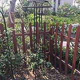 QILIN Pflanzen-Aufzucht-Turm Große Zylindrische Blume Gartenpfahl Rahmen Clematis Kletterrahmen Traubenrahmen Blumenständer Im Freien Schwarz