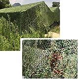 Wilxaw Tarnnetz, Dauerhaft Armeegrün Tarnnetz Sichtschutz, Wald Camping Jagd Schatten Abdeckung Armee Sonnenschirm Dekoration (3 x 6M)