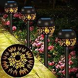 Solarleuchten Garten 4er, Solarlampen für Außen Garten Solar Gartenleuchte für Außen mit IP65 Wasserdicht Warmweiß, Audor Solar Wegeleuchte Dekorative Licht Solarleuchten für Außen Landschaft Rasen