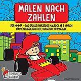 Malen nach Zahlen für Kinder: Das große Fahrzeuge Malbuch ab 5 Jahren für den Kindergarten, Vorschule und Schule - Ausmalbuch für Mädchen und Jungen