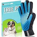 TruePet Fellpflegehandschuh für Hunde & Katzen – Tierhaarbürste ideal zur Fellpflege für langes & kurzes Haar – Sanfte Fellbürste gegen lose Tierhaare & Verfilzungen