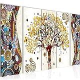 Bilder Gustav Klimt Baum des Lebens Wandbild 200 x 80 cm Vlies - Leinwand Bild XXL Format Wandbilder Wohnzimmer Wohnung Kunstdrucke Fertig zum Aufhängen 004655a