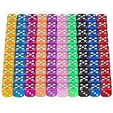 Würfel Bunt, 100 Stück Spielwürfel, 12mm Würfel Farbig 6 Seitig 10 Durchscheinende Farben Würfel Set für Würfelspiele Tischspiele
