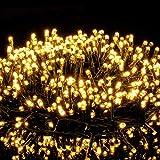 Avoalre 2000er led Lichterkette 50M Weihnachtsbeleuchtung Außen Lichterkette, 8 Modi IP44 Wasserdicht Lichterkette für Weihnachten Garten Party Geburtstag Hochzeit, Warmweiß Lichterkette