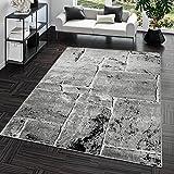Teppich Steinboden Marmor Optik Design Modern Wohnzimmerteppich Grau Top Preis, Größe:240x340 cm