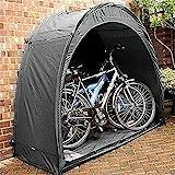 GYPPG Fahrradzelt-Aufbewahrungsschuppen Outdoor-Fahrradabdeckung, Fahrradabdeckung Wetterfestes, Dickes Material, für die Aufbewahrung von Outdoor-Fahrradartikeln, Schwarz