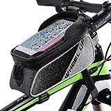 Betuy Fahrradrahmen Tasche, Wasserdicht Bike Top Tube Bag Cycling Frontrahmen Tasche Handyhalter für Smartphones Unter 6,0 Zoll mit Sonnenblende