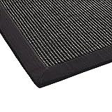 BODENMEISTER Sisal-Teppich modern hochwertige Bordüre Flachgewebe, verschiedene Farben und Größen, Variante: grau anthrazit, 120x170