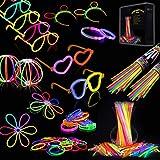IREGRO Knicklichter 200 Stücke, Leuchtstäbe, Glow Sticks, Neon Leuchtstäbe Party Pack, für Hochzeiten Partys Geburtstage Festival