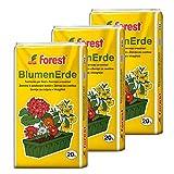 Universal-Blumenerde 3 Sack á 20 Liter = 60 Liter Qualitätspflanzerde