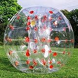 YYD Aufblasbarer Stoßkugel-Blasen-Fußball des Blasen-1.2M / 1.5M im Durchmesser sprengen Spielzeug in 5 Minute aufblasbaren Stoßblasenkugeln für Erwachsene oder Kind,DotRed,1.2M