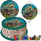 Tortenaufleger * Dinosaurier & T-REX * für (Lieblings-) Torten und Kuchen von Lutz Mauder | 10317 | Kinder Geburtstag Kindergeburtstag Kinderparty Party Kuchen Torte