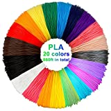 3D Stift Filament PLA, 20 Farben, je 10M – 3D Pen PLA Filament 1,75mm, 3D Stift Farben Set für ODRVM, Tecboss, Lovebay, 3D Stift and 3D Druck Stift