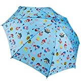 Dr. Neuser Kinder Regenschirm Umbrella Stockschirm Schirm Kinderschirm, Farbe:Hellblau