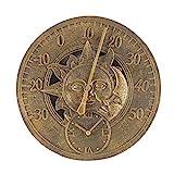 Unbekannt Sun & Moon Wandthermometer und Uhr, 30,5 cm