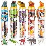JOYIN 69 Stücke Natürliche Welt Tierfiguren Set, Tiere Spielzeugset von Dinosaurier Insekt Meerestier Tierwelt Wildtiere, Mini Vinyl Plastik Verschiedene Figuren Playset für Party Halloween