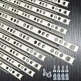 10 EDELSTAHL Schubladenschienen Rollenauszug Teilauszug Teleskopschiene Kugelführung Schubladenauszug H: 17 / L: 310 mm