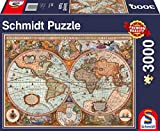 Schmidt Spiele Puzzle 58328 Antike Weltkarte, 3000 Teile Puzzle, bunt