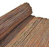 Nature LOUNGE Weidenmatte 80 x 500 cm - Hochwertiger Weiden Sichtschutz Zaun - Weidenzaun Matte für Haus, Garten und Balkon