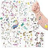 Tattoo Kinder, Sporgo Einhorn Tattoos Set, 300 Stück Einhorn Tattoos Kinder, Einhorn & Regenbogen Temporäre Tattoos Kinder Aufkleber Sticker für Mädchen Kindergeburtstag Mitgebsel Einhorn Party
