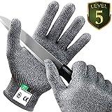 Kasimir Schnittschutz Handschuhe Schnittfeste Handschuhe Extra Starker Level 5 Schutz, EN-388 Zertifiziert, Lebensmittelecht - Hochwertig und Leicht, für Küche Garten oder Beruf 1 Paar/Größe M
