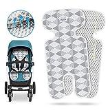 Komake Atmungsaktive Sitzeinlage, Universal Sitzauflage für Kinderwagen, Buggy, Kindersitz und Babyschale -verringert Schwitzen Ihres Kindes und schützt den Sitzbezug vor Flecken