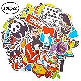 BESLIME Aufkleber Pack 100Pcs Graffiti Aufkleber Pack, Vinyl Stickers, für Auto, Skateboard, Koffer, Motorräder, Fahrräder, Boote, Laptop, Snowboard Gepäck Wasserdicht Vinyl Aufkleber