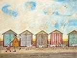 Sam Toft Leinwanddruck, Holz, Mehrfarbig, 30 x 40 cm