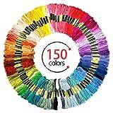 Stickgarn, 150 Farben Embroidery Floss Multifarben Sticktwist Set Weicher Stickerei Baumwolle 8M 6-Fädig Threads Nähgarne Häkeln perfekt für Freundschaftsbänder, Kreuzstich Basteln, DIY Haarringe