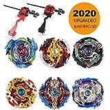 infinitoo 6er Set Kampfkreisel Battling Tops 4D Fusion Modell Beschleunigungslauncher Speed Kreisel Tolles Kinder Spielzeug Geschenk