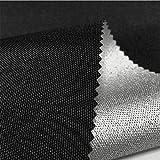 LUOSFUH Flammhemmendes Gewebe Brandschutzunterlage Matte 600D elastischer Draht-Ochsenstoff beschichtetes Silber feuerfestes wasserdichtes Zelt-Gewebe Grillmatte Kamin Stoff Schwarz 200cm x 150cm