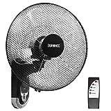 Duronic FN55 Wandventilator 60W - Durchmesser: 40 cm – Timer und Fernbedienung – 3 Geschwindigkeiten - kompakter und leiser Ventilator für Zuhause und Büro