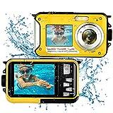 Unterwasserkamera Kamera Wasserdicht Full HD 1080P 24MP Unterwasser Kamera zum Schnorcheln Selfie Dual Screen 16X Digital Zoom wasserdichte Kamera