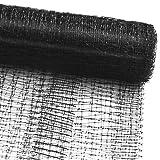 Vogelschutznetz zum Abdecken von Bäumen, Sträuchern, Beeten | viele Größen | reißfestes Vogelnetz für Garten, Balkon oder Teich | Netz zum Schutz vor Vögeln | Maschenweite: 13 mm | schwarz | 2x5 m