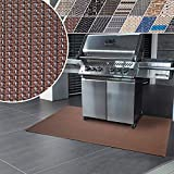 Floordirekt Grillschutzmatte   Schwer entflammbar   2 Größen   5 Designs   Grillmatten zum Grillen im Garten   Outdoor Matten für den Grill (90 x 120 cm, Modena)